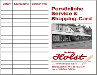 Shopping Card Modehaus Holst